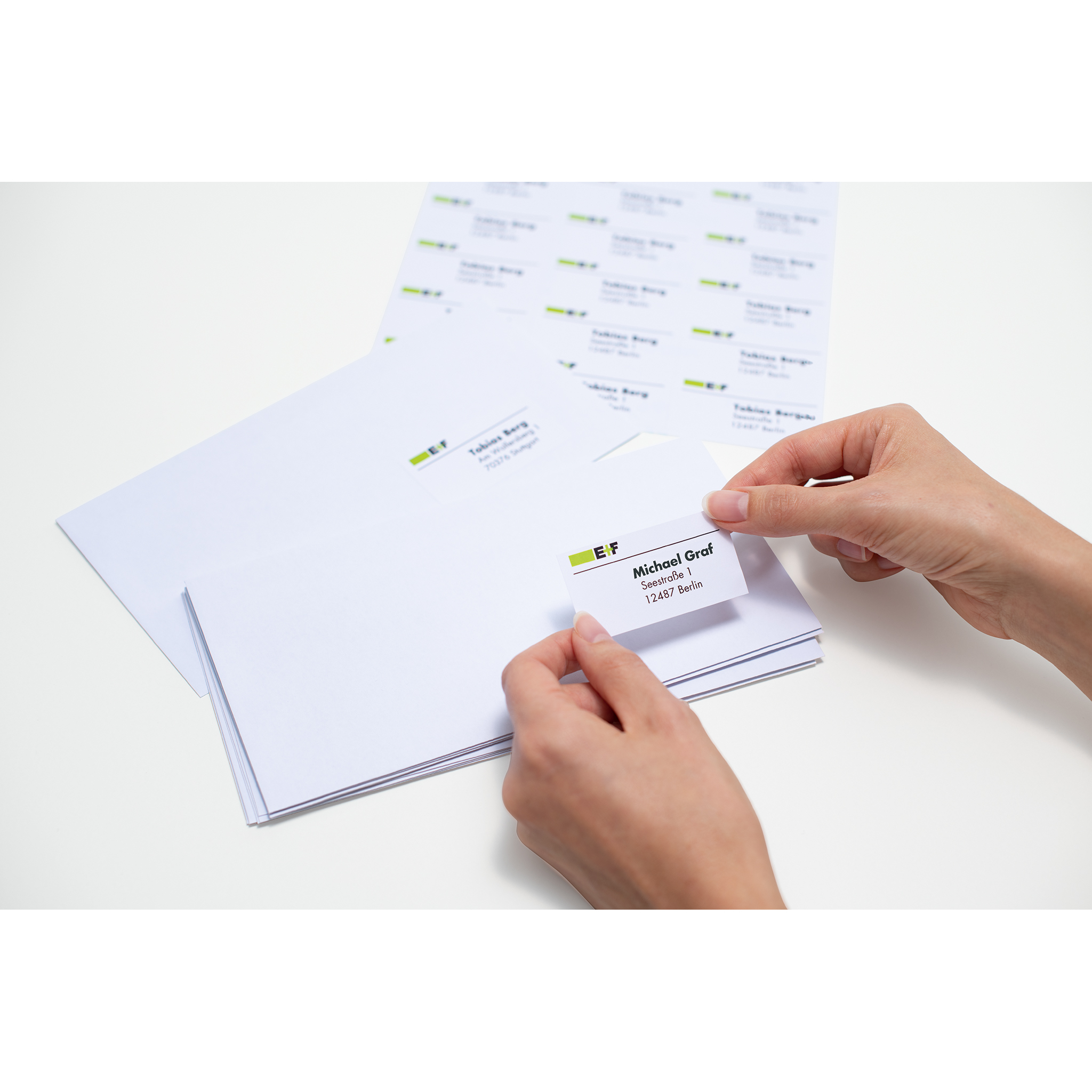 Address labels A4-4501