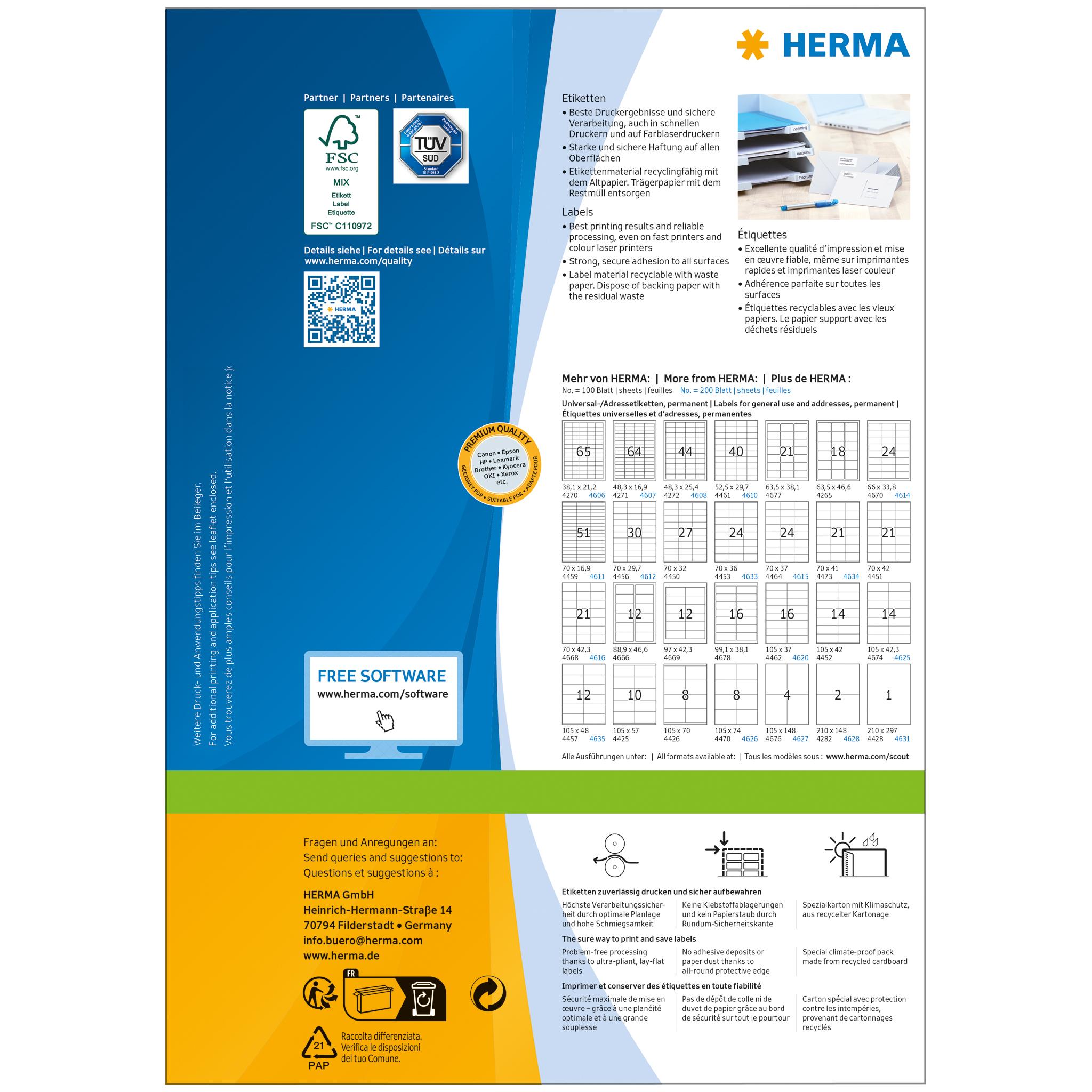 Labels A4, SuperPrint-4425