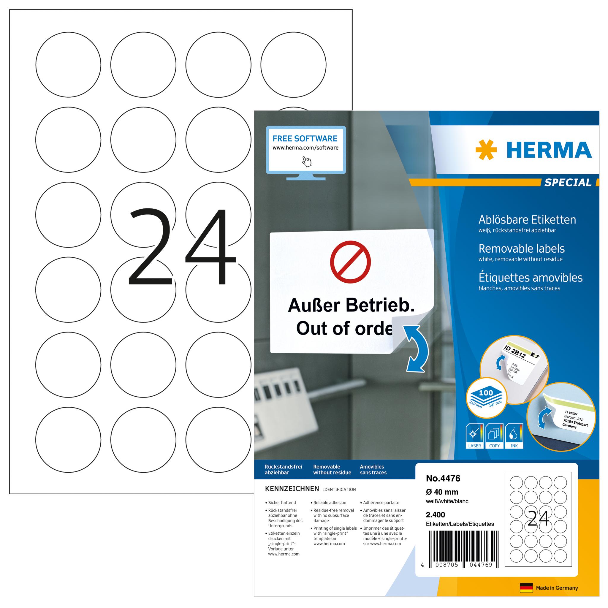 Round labels A4, SuperPrint-4476
